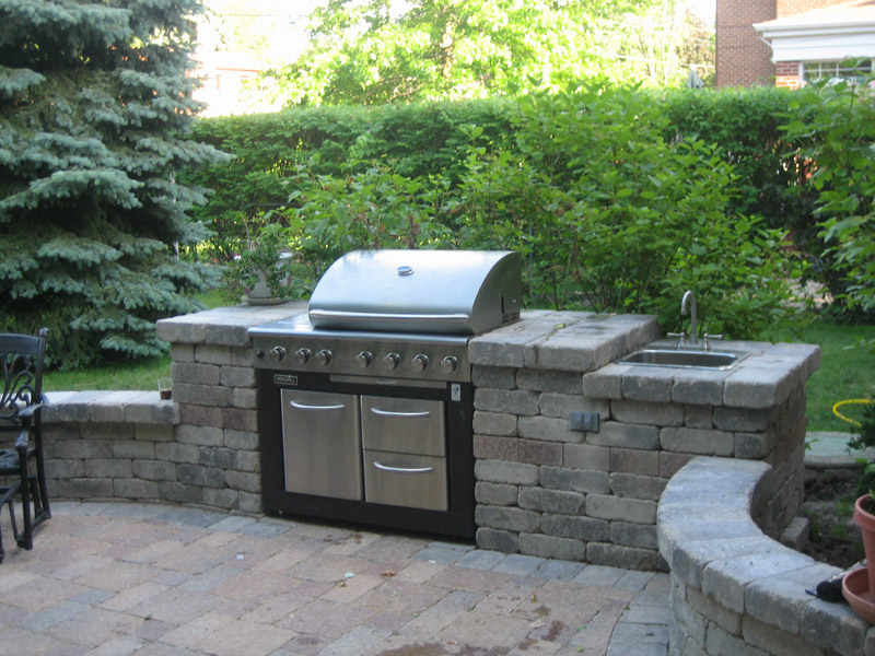 Grill enclosures brick patio pavers 3d brick for Bbq grill designs and plans