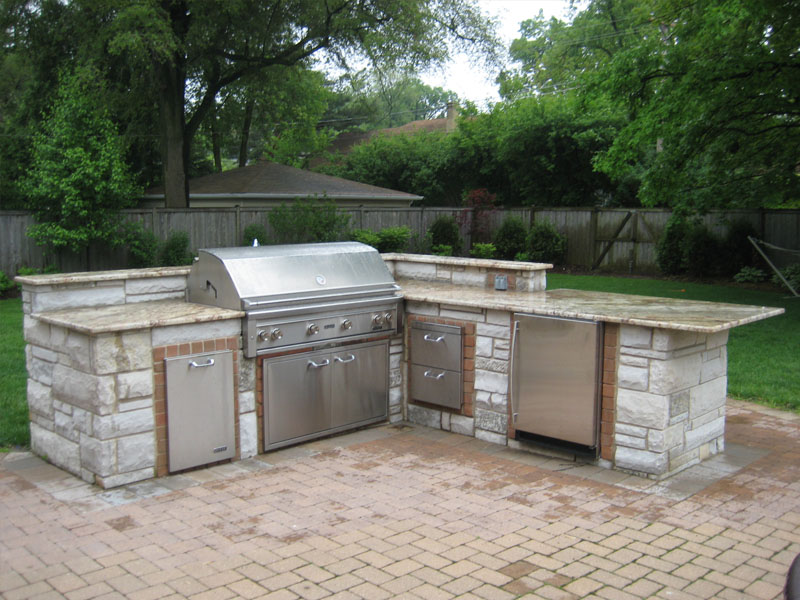 Grill Enclosures Brick Patio Amp Pavers 3d Brick